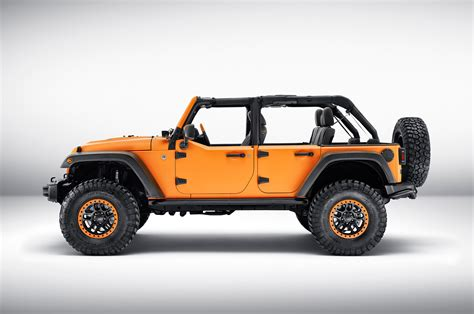 Jeep Wrangler Rubicon Sunriser by Mopar Tuned Jeep Wrangler And Renegade Debut In