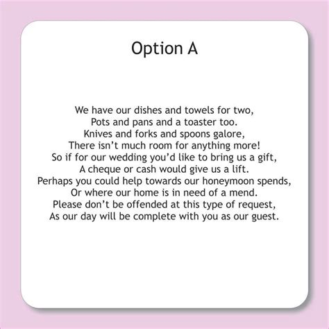 money wedding registry best 25 wedding gift poem ideas on wedding