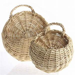 Wall wicker baskets buckets boxes home decor