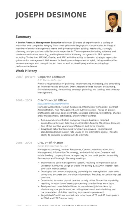 Corporate Finance Experience Resume by Corporate Controller Resume Sles Visualcv Resume Sles Database