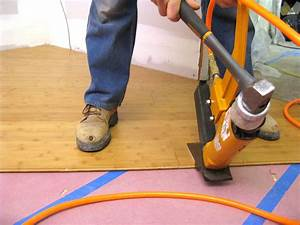 How to install bamboo flooring on a diagonal how tos diy for How to install nail down bamboo flooring