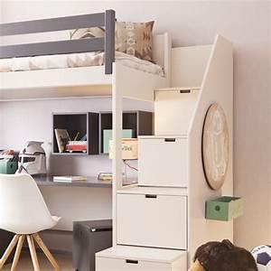 Asoral Hochbett LOFT XL LISO Mit Treppe Schreibtisch 4