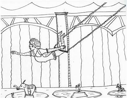 Showman Greatest Coloring Pages Circus Printable Trapeze