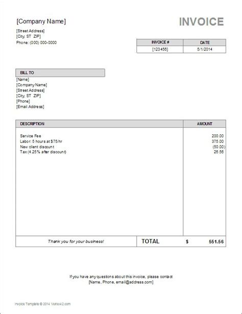 basic invoice template invoice template word invoice