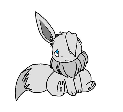 raccoon damage silver the shiny eevee by madesentheraccoon on deviantart