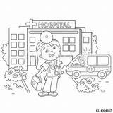Hospital Coloring Doctor Cartoon Outline Kleurplaten Near Ziekenhuis Het Kleurplaat Colorear Depositphotos Colorare Coloriage Piqure Voor Dokter Staat Beterschap Ziek sketch template