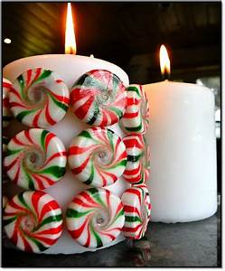 Killer Crafts DIY Holiday Peppermint Candy Candle