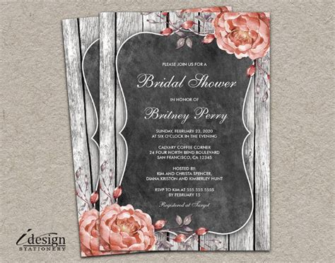 bridal shower invitation examples word psd ai