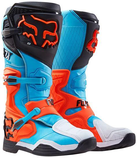 best motocross boot fox comp 8 boots motocross black blue orange best prices