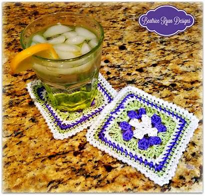 Crochet Beatrice Pattern Coaster Beatriceryandesigns Sweet