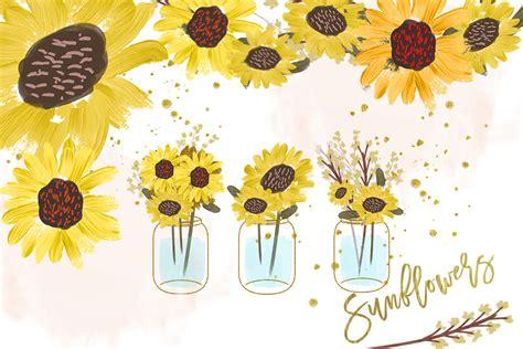 sunflower watercolor clipart pumpkin clip art sunflower