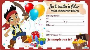 Carte Anniversaire Pour Enfant : carte d 39 invitation anniversaire gratuite a imprimer enfant meilleurs voeux ~ Melissatoandfro.com Idées de Décoration