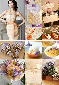 Peach and Lavender Weddings {Color Board}