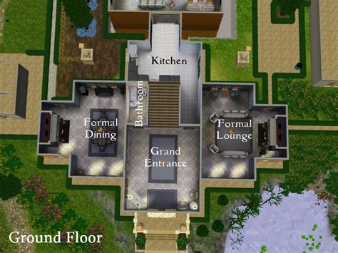 Sims 3 Floor Plans Small House by The Sims 3 Modern House Floor Plans