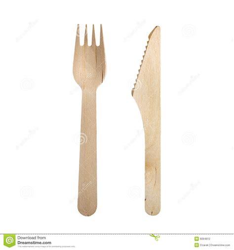 cuill鑽e en bois cuisine couteau en bois et fourchette d 39 isolement photographie stock image 6064812