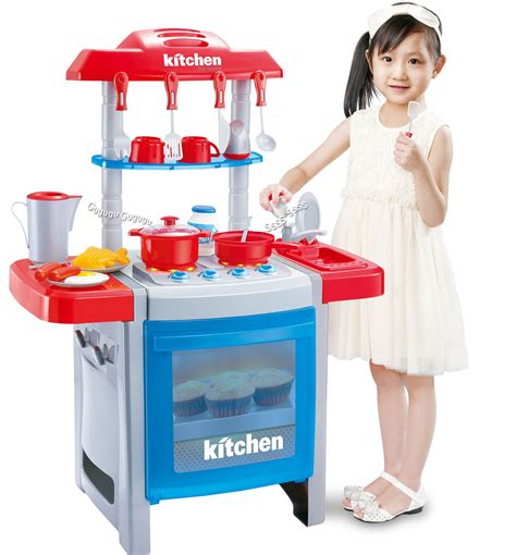 play kitchen with sounds and lights 22 pieces childrens pretend play electronic lights 9143