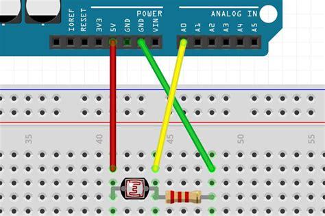 pairing a light dependent resistor ldr with an arduino