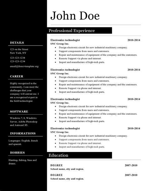 CV resume templates #392 to 398 • Get A Free CV