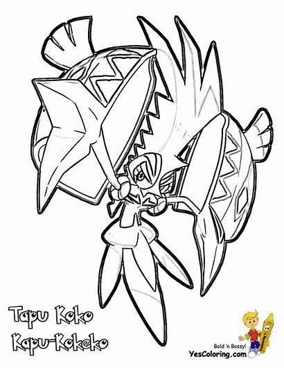 Coloring Tapu Pokemon Koko Lele Sun Printables