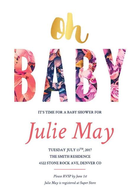baby shower invitation templates examples