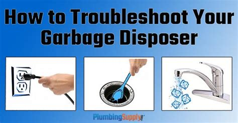 troubleshoot  garbage disposal