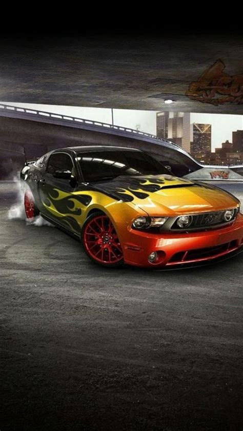 Hd Car Wallpapers For Iphone by Iphone 5 Wallpapers Hd Cool Mustang Front Car Iphone 5