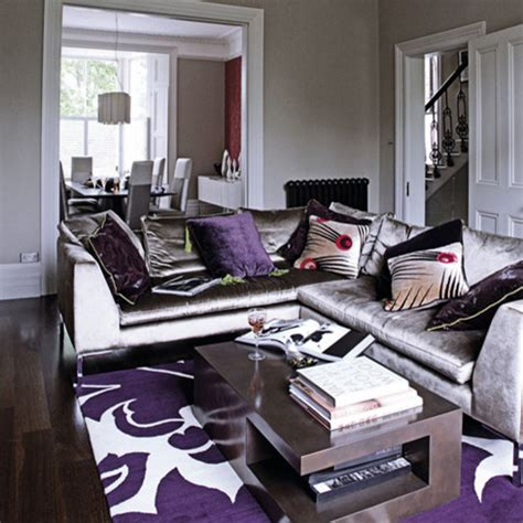 Grey And Purple Living Room Decor by Gray Purple Living Rm