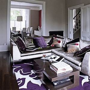 Gray purple living rm for Grey and purple living room