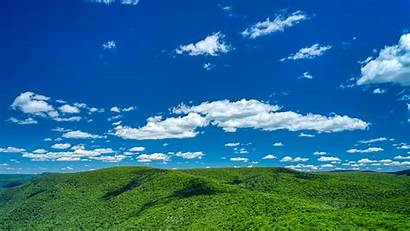 Sky Clouds Hills Trees Background 1080p Hdtv