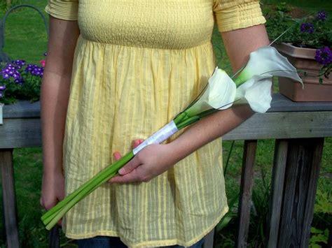 Diy Calla Lily Arm Bouquet