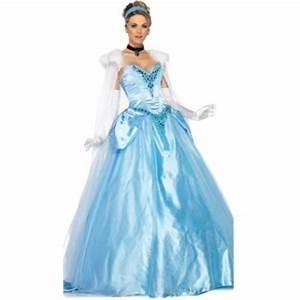 Deguisement Princesse Disney Adulte : costume cendrillon robe de bal deguisement femme adulte ~ Mglfilm.com Idées de Décoration
