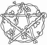 Embroidery Pentacle Patterns Coloring Pagan Wiccan Urbanthreads Witch Venus Pentangle Pentagram Urban Adult Threads Cross Stencil Drawings Pintar Wicca Unique sketch template
