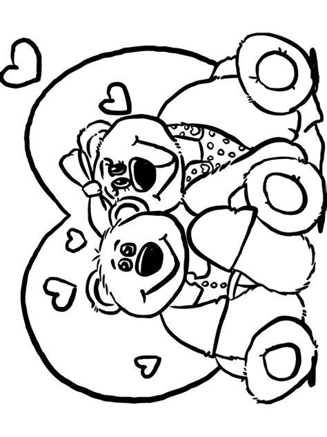 Kleurplaat Moederdag Teddybeer by Kleurplaat Verliefde Beren Kleurplaten Nl