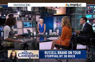 russell brand on morning joe russell brand hijacks morning joe skewers brzezinski