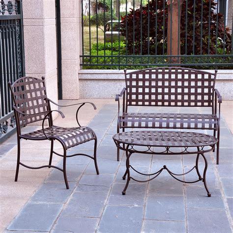 iron patio furniture creativeworks home decor patio furniture sets