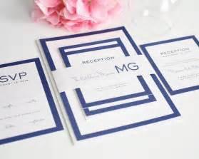 wedding programs vistaprint modern wedding invitations in blue with monogram wedding
