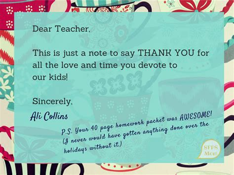 An Open Thank You Letter To Teachers
