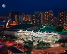 Aerial View of the Hawaii Convention Center at night | IAU