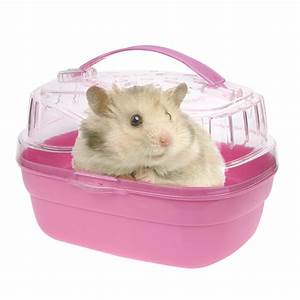 Cute Portable Hamster Cage Case Small Animals Home Carry ...