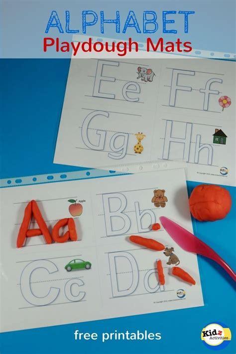 printable alphabet playdough mats kidz activities