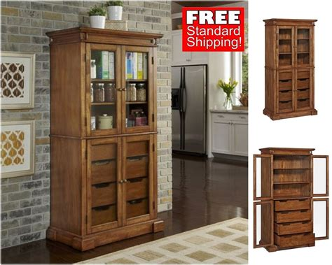 Rustic Kitchen Pantry Wood Oak Storage Cabinet Drawer Make Outdoor Shower Images Of Showers Portable Garden Curtain And Pole Trendy Curtains Patchwork Plastic Hooks