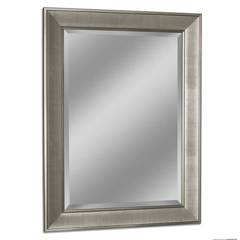Bathroom Wall Mirrors Brushed Nickel by Deco Mirror 29 In W X 35 In H Pave Wall Mirror In Brush