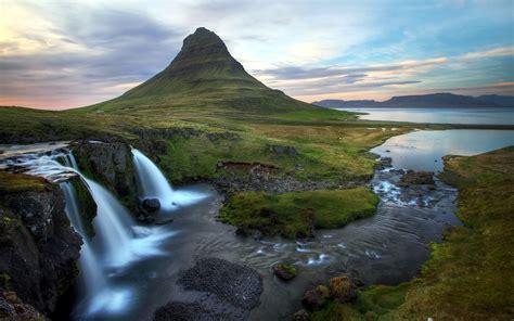 Mountain Waterfalls Desktop Background