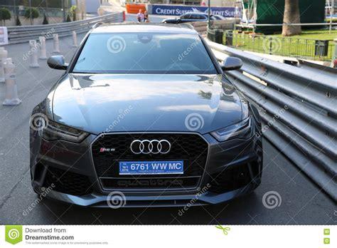 Audi Quattro Exotic Sports Car Front View Editorial Photo