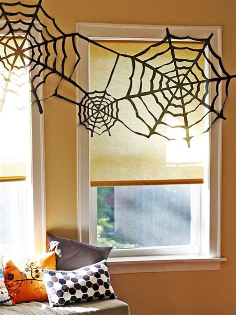 How To Decorate With Spider Web - trash bag spider webs hgtv