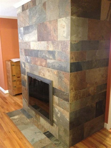 slate fireplace traditional living room charlotte