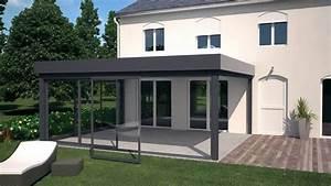 Modele De Veranda : delt 39 alu pr sente les v randas avec toiture plat d ~ Premium-room.com Idées de Décoration