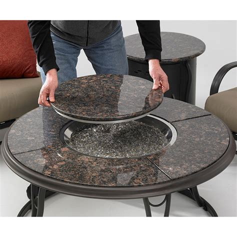 48 inch chat firepit and beverage cooler table with