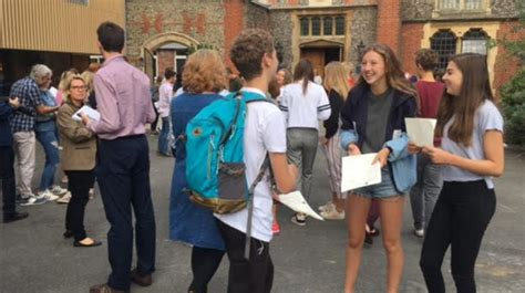 sussex students receive gcse results meridian itv news