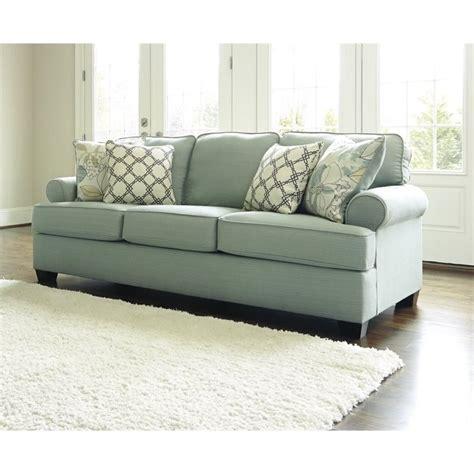 daystar seafoam sleeper sofa ashley daystar fabric queen size sleeper sofa in seafoam